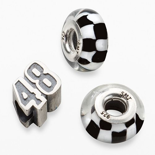 "Insignia Collection NASCAR Jimmie Johnson Sterling Silver ""48"" Bead Set"