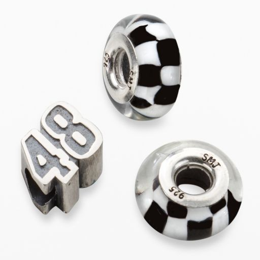 Insignia Collection NASCAR Jimmie Johnson Sterling Silver 48 Bead Set