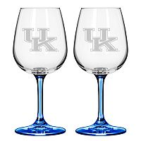 Kentucky Wildcats 2 pc Wine Glass Set