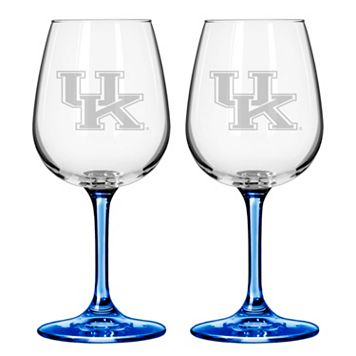 Kentucky Wildcats 2-pc. Wine Glass Set