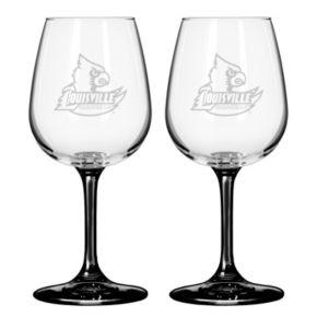 Louisville Cardinals 2-pc. Wine Glass Set