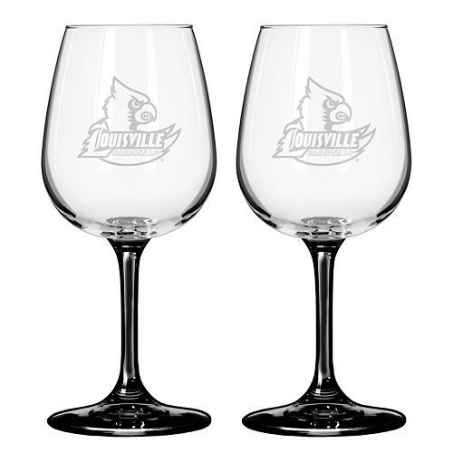 Louisville Cardinals 2-pc. Wine Glass Set