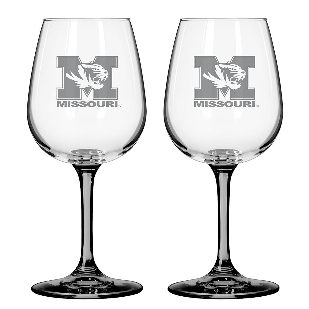 Missouri Tigers 2-pc. Wine Glass Set