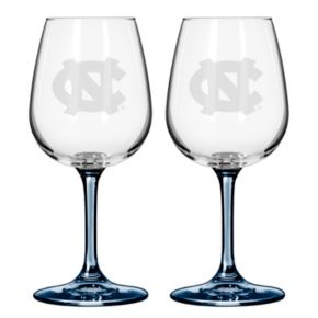 North Carolina Tar Heels 2-pc. Wine Glass Set