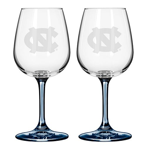 North Carolina Tar Heels 2-pc. Wine Glass Set