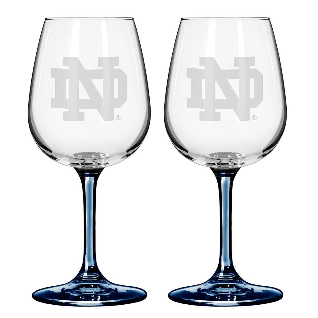 Notre Dame Fighting Irish 2-pc. Wine Glass Set