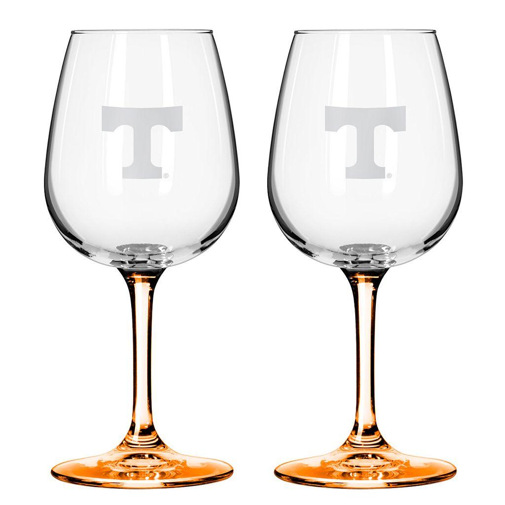 Tennessee Volunteers 2-pc. Wine Glass Set