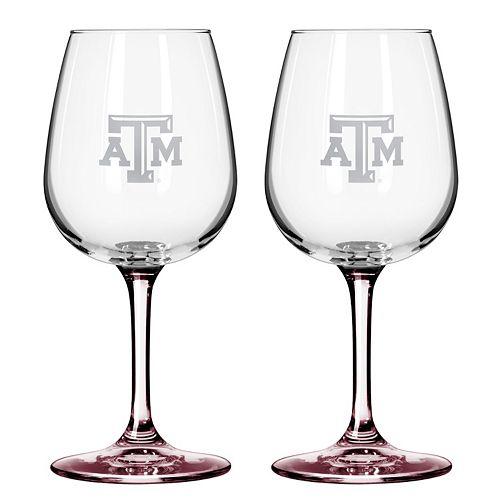 Texas A&M Aggies 2-pc. Wine Glass Set