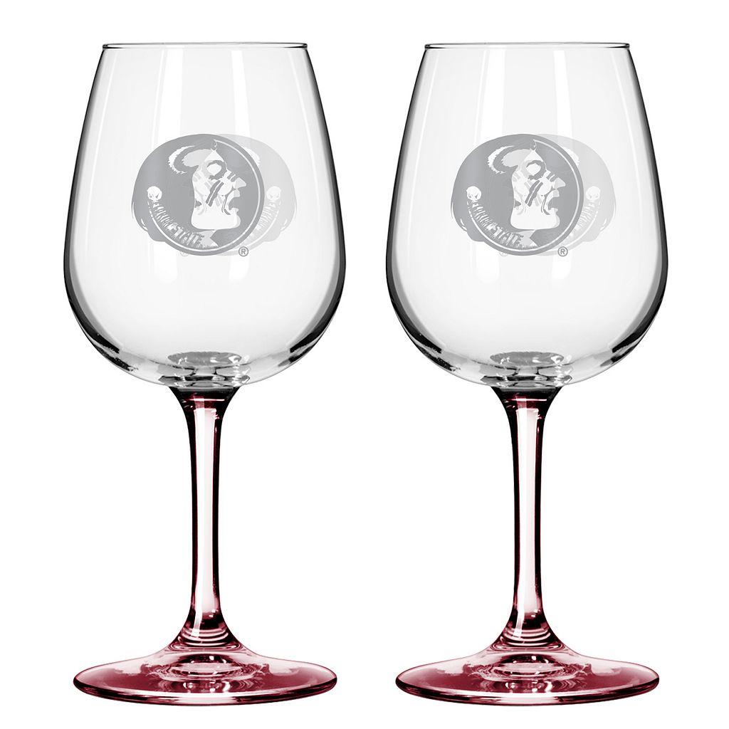 Florida State Seminoles 2-pc. Wine Glass Set