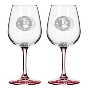 Florida State Seminoles 2-pc. Wine Glass Set
