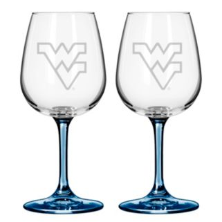 West Virginia Mountaineers 2-pc. Wine Glass Set