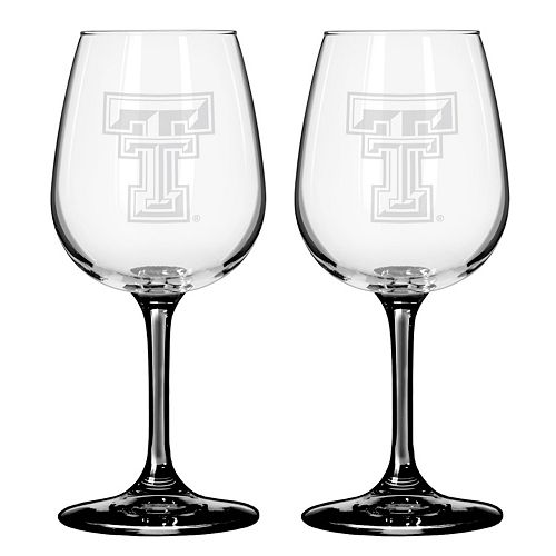 Texas Tech Red Raiders 2-pc. Wine Glass Set