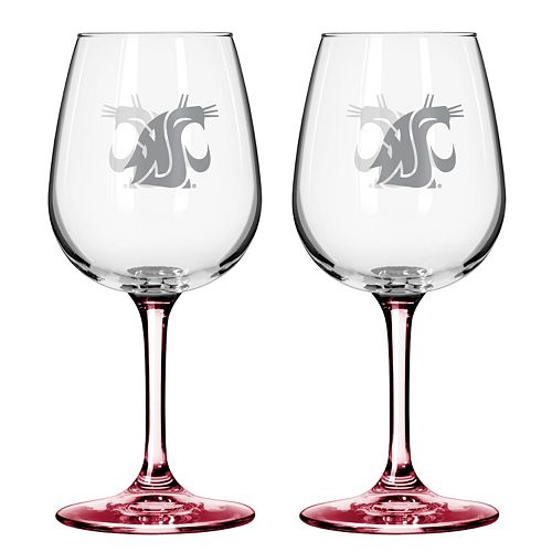 Washington State Cougars 2-pc. Wine Glass Set