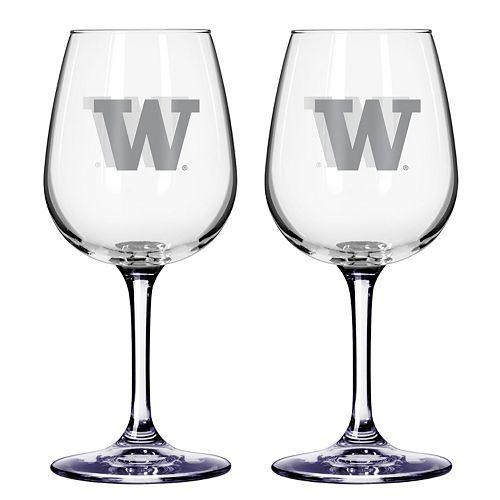 Washington Huskies 2-pc. Wine Glass Set