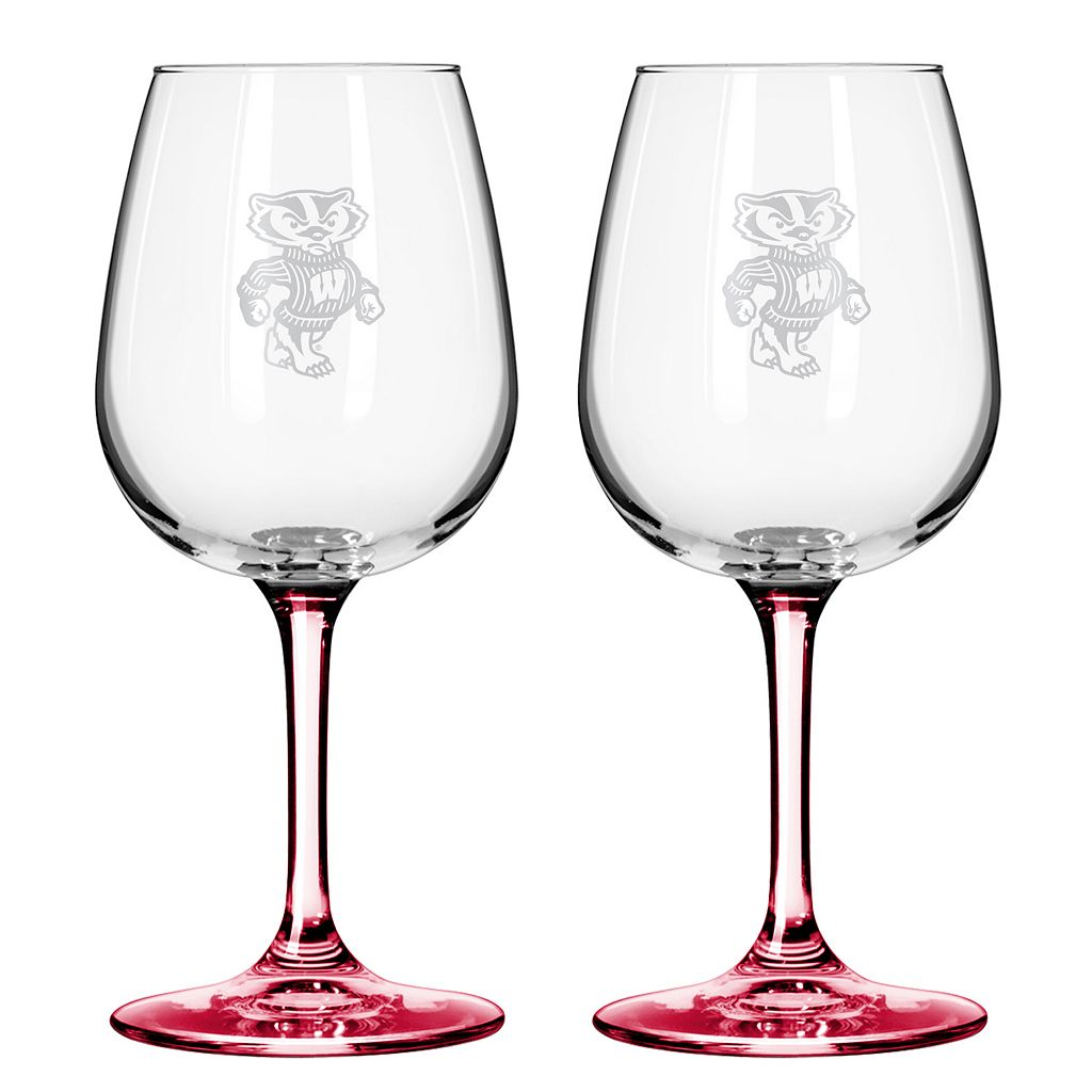 Wisconsin Badgers 2-pc. Wine Glass Set