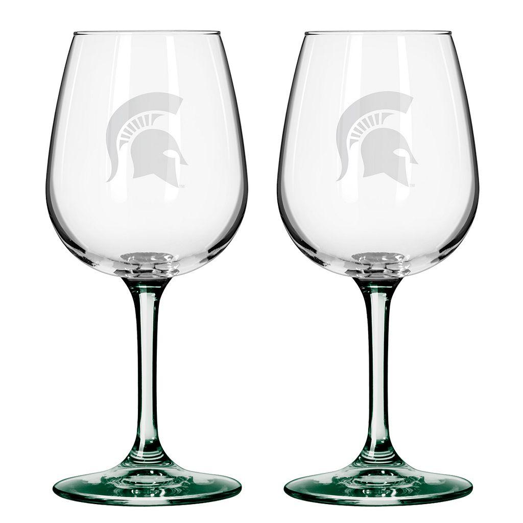Michigan State Spartans 2-pc. Wine Glass Set