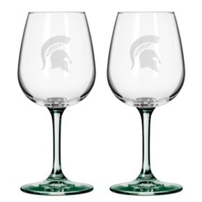Michigan State Spartans 2-pc. Wine Glass Set