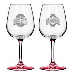 Ohio State Buckeyes 2-pc. Wine Glass Set