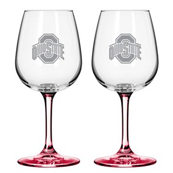 Ohio State Buckeyes 2-pc. Wine Glass Set