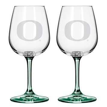 Oregon Ducks 2-pc. Wine Glass Set