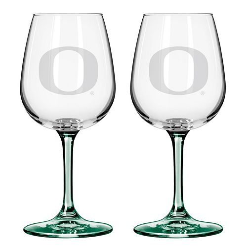Oregon Ducks 2-pc. Wine Glass Set