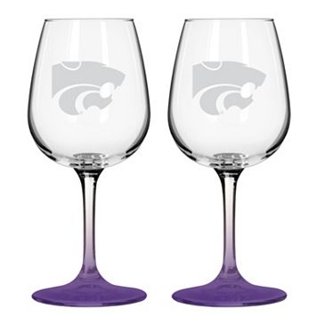 Kansas State Wildcats 2-pc. Wine Glass Set
