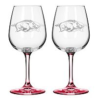 Arkansas Razorbacks 2-pc. Wine Glass Set