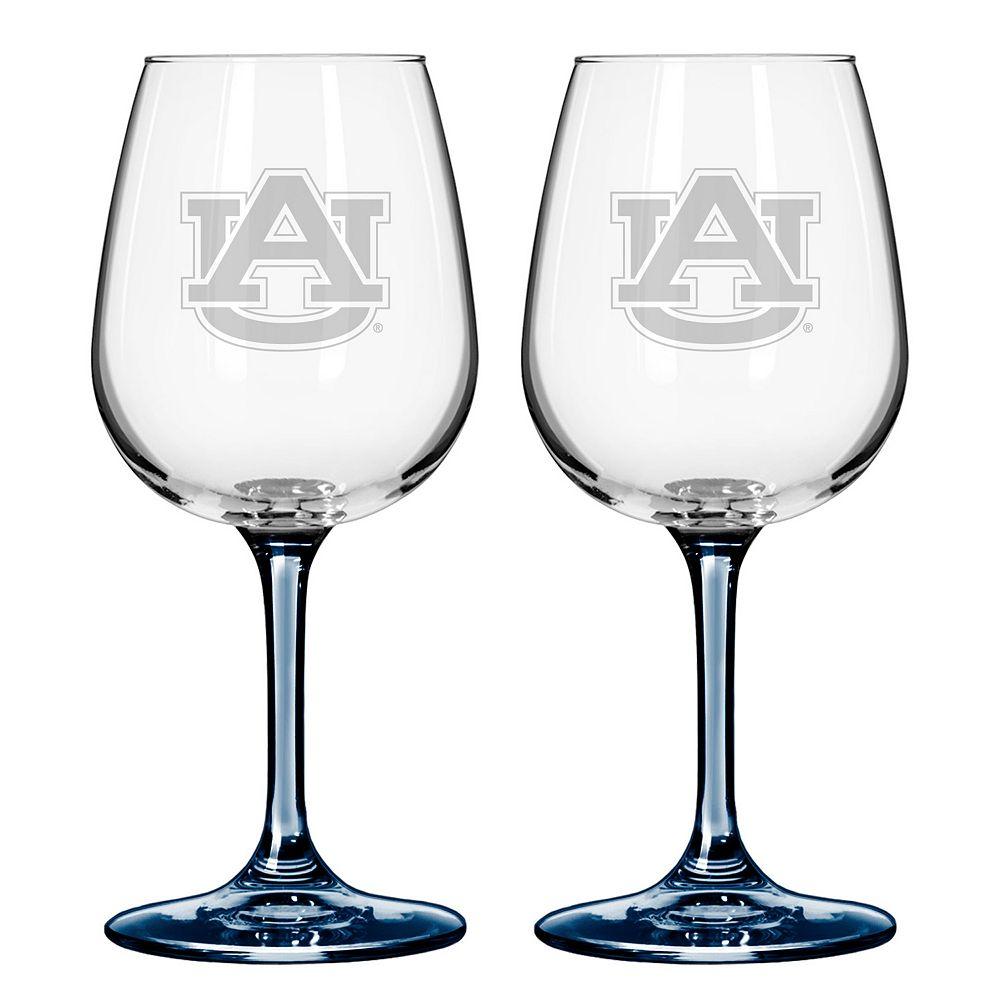 Auburn Tigers 2-pc. Wine Glass Set