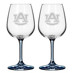 Auburn Tigers 2-pc. Wine Glass Set