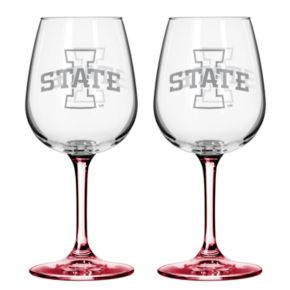 Iowa State Cyclones 2-pc. Wine Glass Set