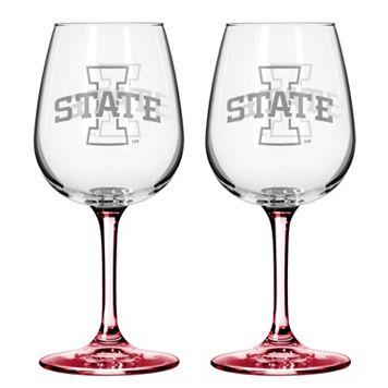 Iowa State Cyclones 2-pc. Wine Glass Set