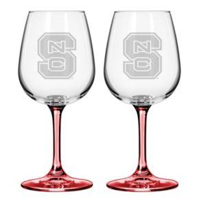 North Carolina State Wolfpack 2-pc. Wine Glass Set