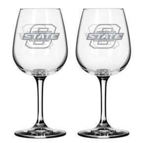 Oklahoma State Cowboys 2-pc. Wine Glass Set