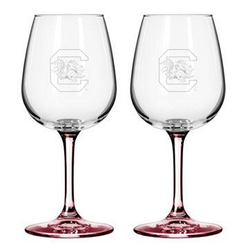 South Carolina Gamecocks 2-pc. Wine Glass Set
