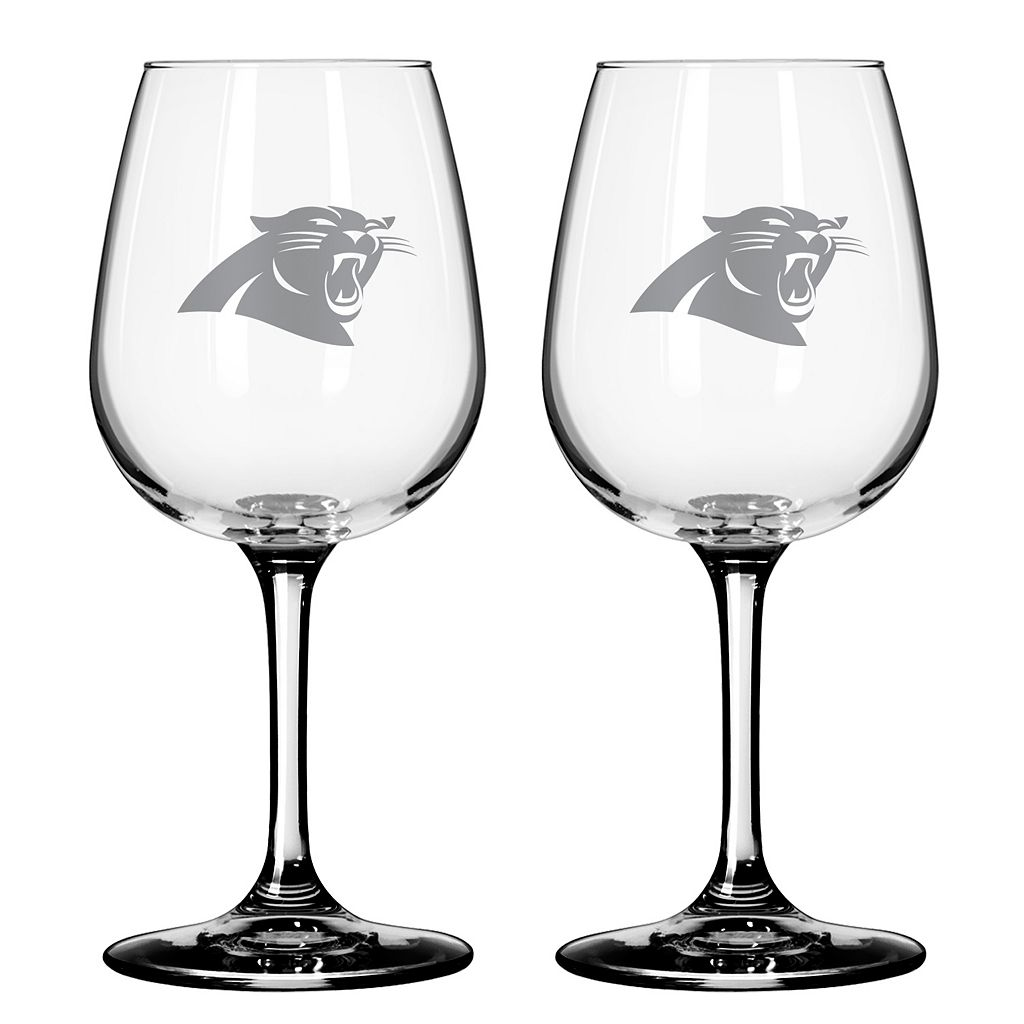Carolina Panthers 2-pc. Wine Glass Set