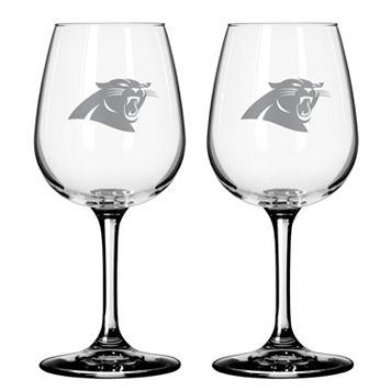 Carolina Panthers 2-pc. Wine Glass Set