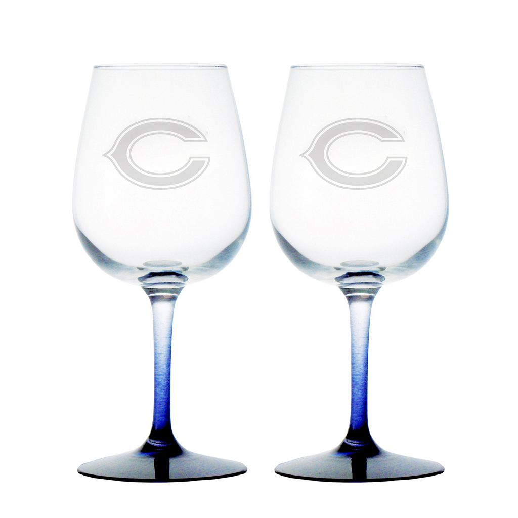 Chicago Bears 2-pc. Wine Glass Set