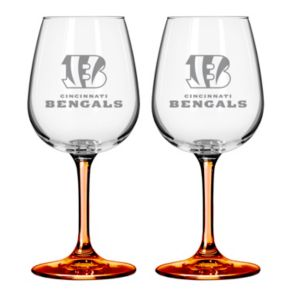 Cincinnati Bengals 2-pc. Wine Glass Set