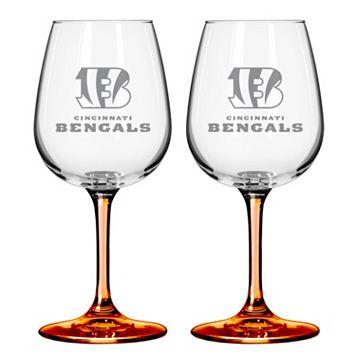 Cincinnati Bengals 2-pc. Wine Glass Set