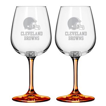 Cleveland Browns 2-pc. Wine Glass Set