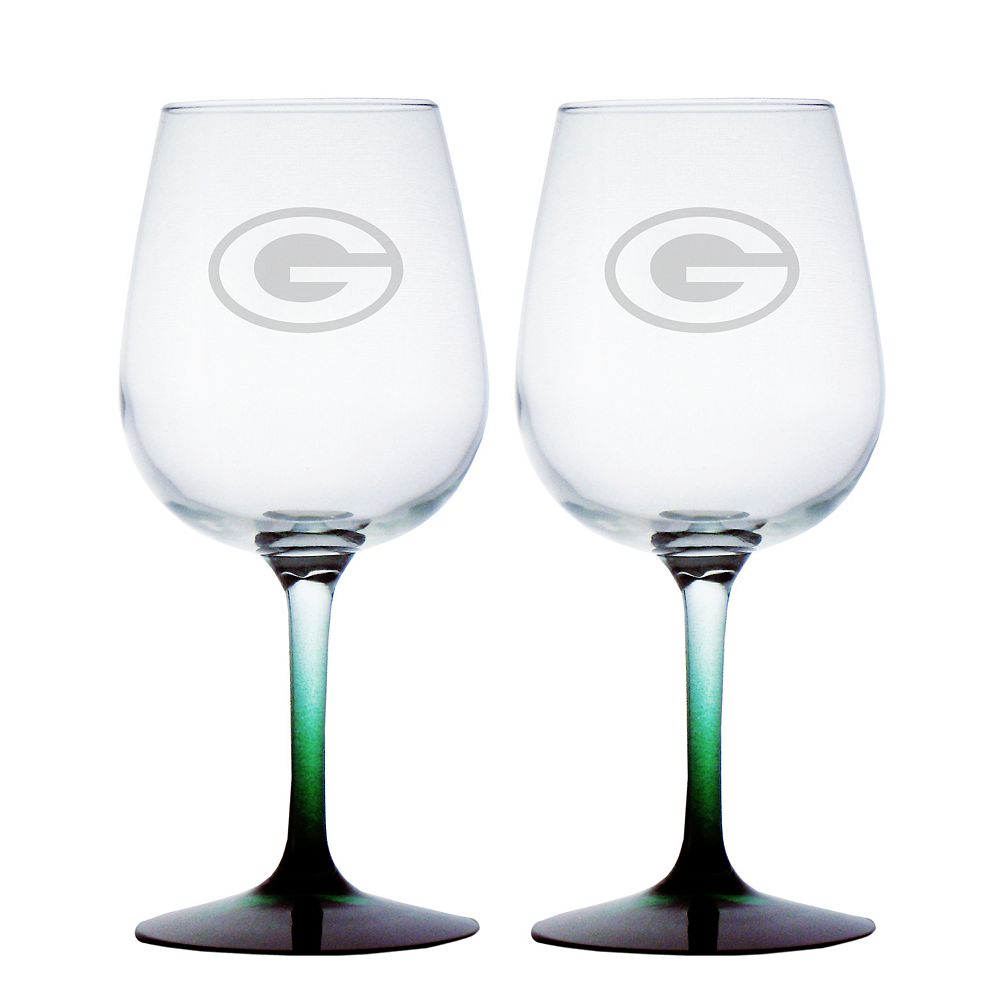 Green Bay Packers 2-pc. Wine Glass Set