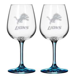Detroit Lions 2-pc. Wine Glass Set