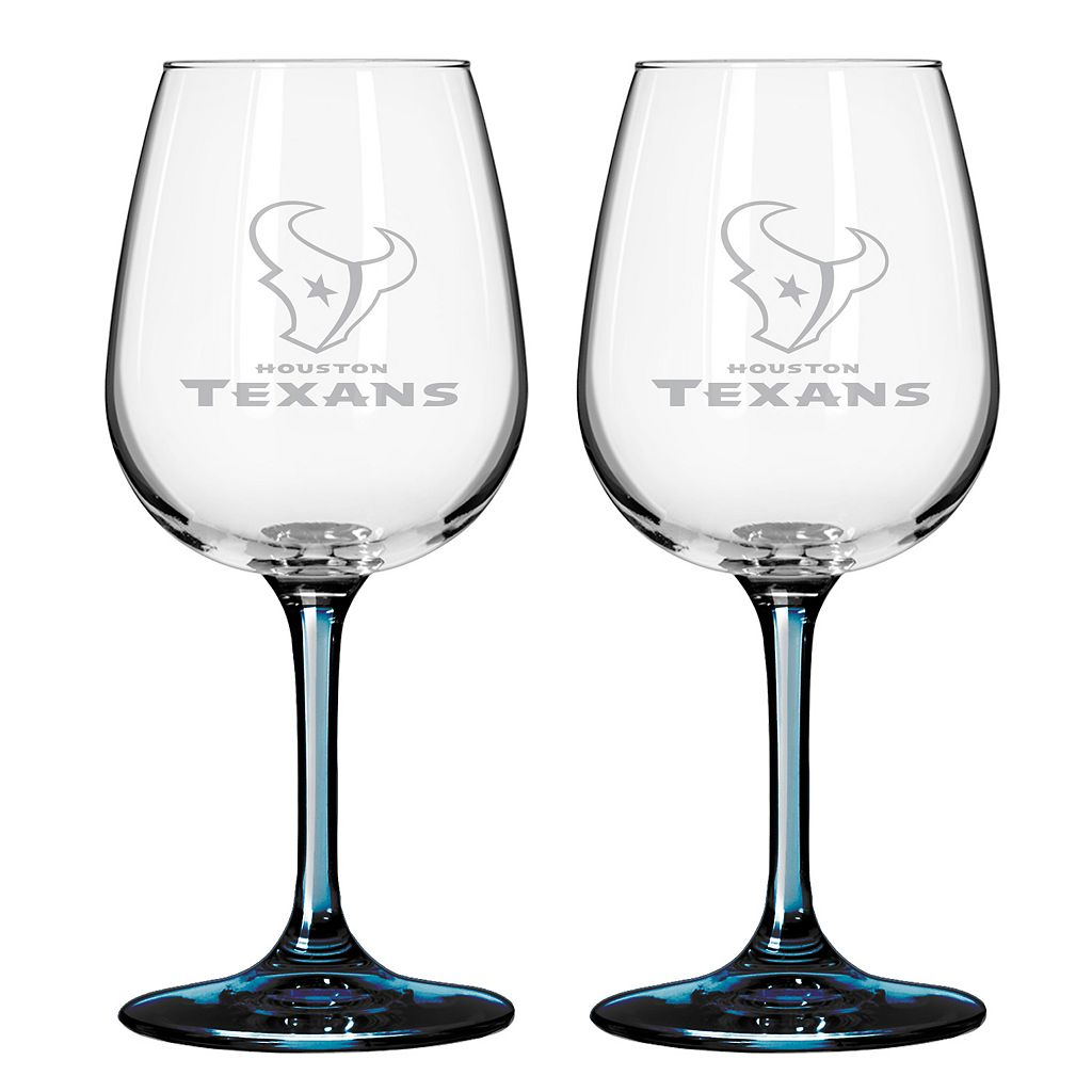 Houston Texans 2-pc. Wine Glass Set