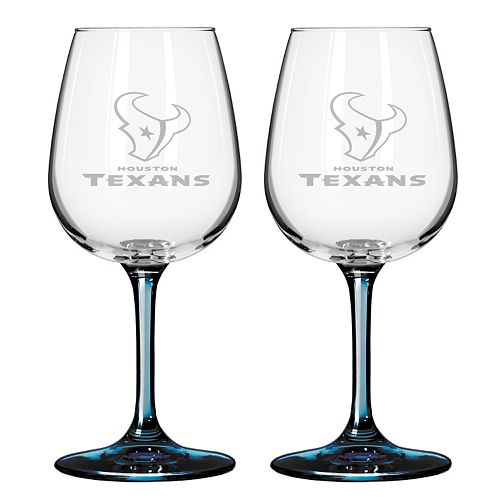 Houston Texans 2-pc. Wine Glass Set