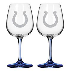 Indianapolis Colts 2 pc Wine Glass Set