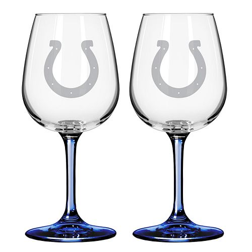 Indianapolis Colts 2-pc. Wine Glass Set