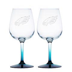 Philadelphia Eagles 2-pc. Wine Glass Set