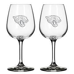 Jacksonville Jaguars 2 pc Wine Glass Set
