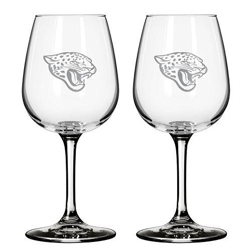 Jacksonville Jaguars 2-pc. Wine Glass Set