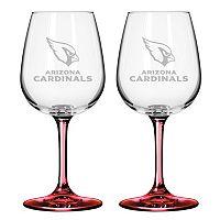Arizona Cardinals 2-pc. Wine Glass Set